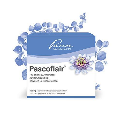 Pascoe Pascoflair: unübertroffen mit 425 mg Passionsblume pro Tablette - entspannt bei Stress - bei nervöser Unruhe - erste Effekte nach 30 Minuten - rein pflanzlicher Wirkstoff - 100 Tabletten